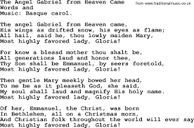 christmas hymns carols and songs title the angel gabriel from