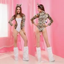 Egyptian Queen Halloween Costume 2016 Club Uniform Leopard Cat Costume Onesies Anime