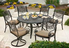 Patio Furniture Cast Aluminum Outdoor Patio Furniture Chairs Tables Dining Sets U2014 Housewarmings