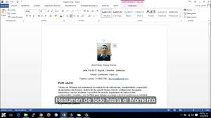 formato hoja de vida 2016 colombia hacer hoja de vida de modo correcto facil y rapido 2016 youtube