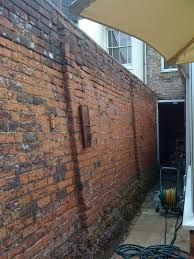repoint and repair victorian garden wall bricklaying job in