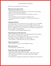 exles on resumes exles of bad resumes resume template ideas