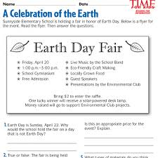 2nd Reading Comprehension Worksheets Earth Day Printables For Second Grade Archives Coloring Page