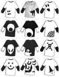 Halloween Cut Outs The Tiny Funnel Halloween Cut Out Shirts