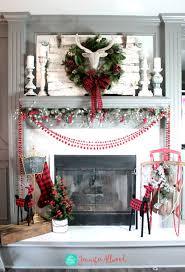 christmas mantel decor christmas mantel decorating ideas with plaid glitter magic brush
