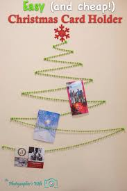 easy and cheap wall christmas card holder u2013 the photographer u0027s wife
