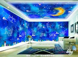 wallpaper for entire wall 3d 12 constellations moon ceiling entire living room wallpaper wall
