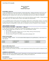 First Time Resume Samples by Sample Resume Good Profile Titles Templates