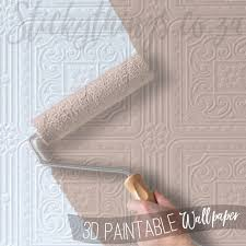 3d embossed paintable wallpaper archives u2022 stickythings wall