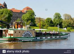 dresden river cruise ship on the elbe river saxonia germany