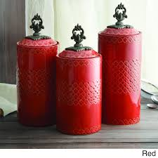 unique red storage jars for kitchen taste