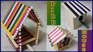3 popsicle bird house unique popsicle stick craft ice