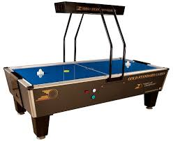 used coin operated air hockey table tournament pro elite home air hockey table gold standard games