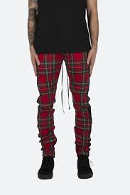 plaid vs tartan plaid track pants red mnml shop now
