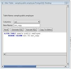 Change Table Name Oracle Postgresql Rename A Column On An Postgresql Database Table Using