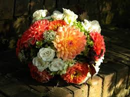 Fall Flowers For Wedding Wedding Flowers From Springwell Fall Bouquets Of Dahlias And Zinnias