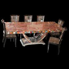 lot 296 art deco dining table and buffet akiba antiques