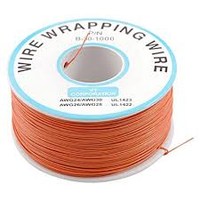 pcb solder orange flexible 0 5mm outside dia 30awg wire wrapping
