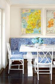 50 best small space decorating tricks we learned in 2016 blue and white breakfast nook