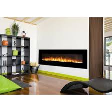 regal flame erie 72 inch black ventless heater electric wall