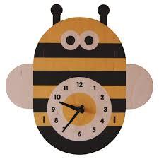 bee wall clock kids wall clocks lum kid s lighting
