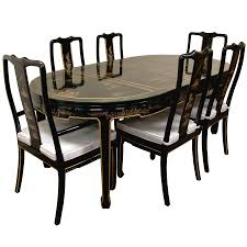 black lacquer dining room chairs dining black lacquer dining table