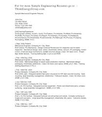sample of mechanical engineer resume best engineering resume