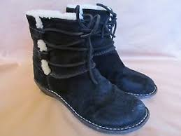 ugg womens caspia ankle boots s ugg caspia black suede leather ankle boots shearling lined