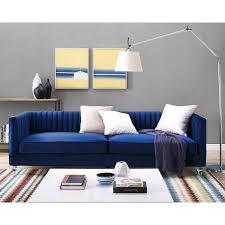 Navy Blue Tufted Sofa Navy Velvet Sofa