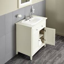 Savoy Old English Double Door Unit And  Tap Hole Inset Basin - Bathroom basin and cabinet 2