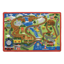 thomas u0026 friends interactive game rug with trains 31 5 inch x 44