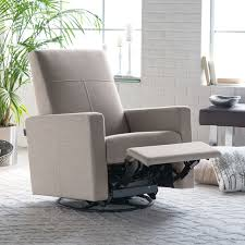 upholstered swivel rocker chairs gorgeous light gray fabric upholstered swivel recliner chair for