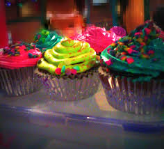 some neon food coloring and a few sprinkles made for awesome