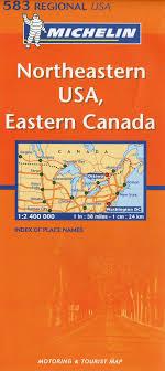 map of ne usa and canada michelin map usa northeastern eastern canada 583 maps regional
