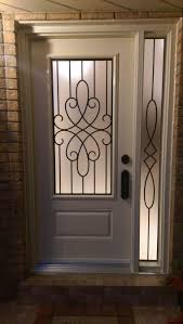 fibre glass door smooth finish painted fiberglass door with classic style lasercut