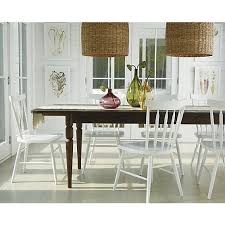 crate and barrel farmhouse table willa snow side chair crate and barrel part of the modern