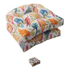 pillow perfect outdoor ash hill wicker seat cushions set of 2