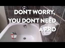 Re Caulking Bathroom Tub Recaulking The Bathtub 101 Youtube