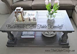 Balustrade Coffee Table Restoration Hardware Balustrade Coffee Table Knockoff