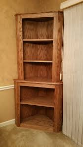 Corner Bookcase Oak Corner Bookcase A Special Place For Your Hobby