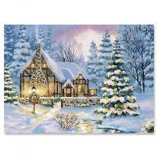 winter cottage cards set of 18 current catalog