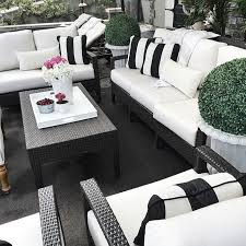 White Lounge Chair Outdoor Design Ideas Endearing Black Wicker Patio Furniture Pvc Throughout Outdoor