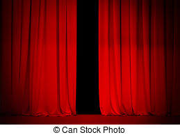 Curtains On A Stage Stock Photography Of Open Stage Theatre Red Curtain Of A