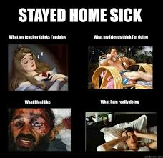 Sick Meme - 4 ways to stay entertained when staying home sick