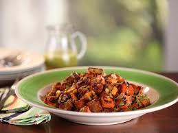 sweet potato hash browns with green vinaigrette recipe
