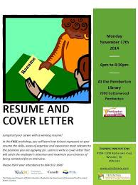 Library Resume Free Resume And Cover Letter Writing Workshop Monday November 17
