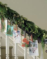 Decorating Banisters For Christmas 6 Ways To Decorate Your Home With Christmas Cards