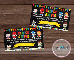 superhero baby diaper raffle ticket diaper raffle ticket super