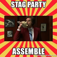 Stag Party Meme - stag party assemble anchorman news team assemble meme generator