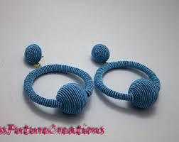 hoop la earrings silk thread earrings etsy